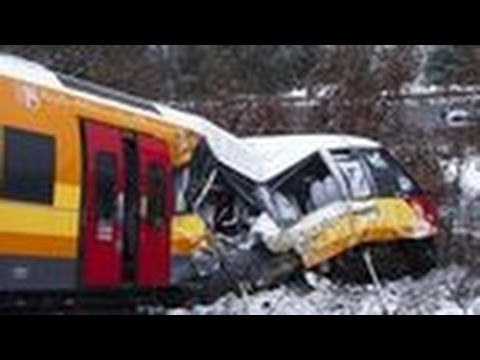 At least two dead as boulder smashes train in the Alps
