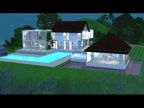 Sims 3  : Construction d'une maison Moderne et tropicale