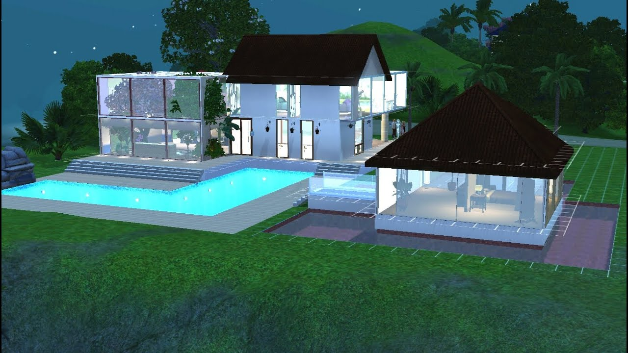 Sims 3 construction d 39 une maison moderne et tropicale for Decoration maison moderne youtube