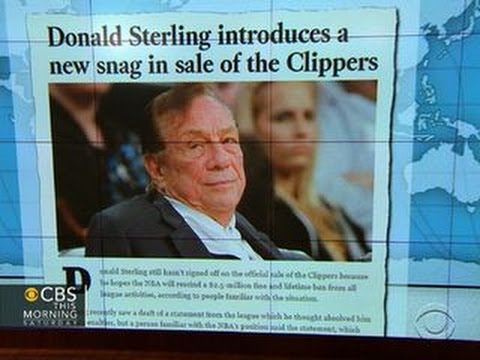 Headlines: Donald Sterling introduces new snag in Clippers sale