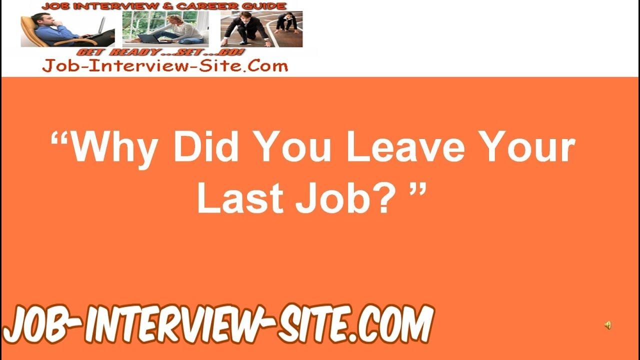 reason for leaving last job