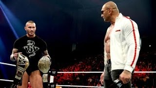 WWE Raw 1/20/14 Batista returns to WWE 2014 Full Segment