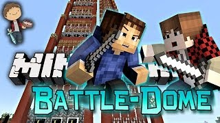 Minecraft: BATTLE-DOME w/Mitch & Friends Part 2 - FISHING POLE WAR!