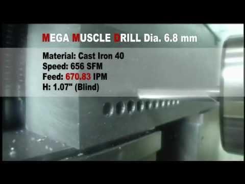 OSG Coolant-Through 3-Flute Carbide Mega Muscle Drills