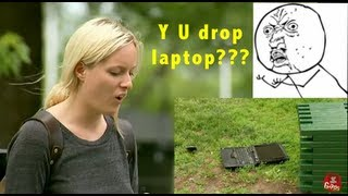 Video They Drop His Laptop and Break It!