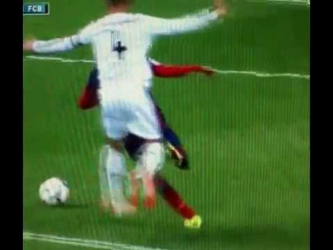 Sergio Ramos foul on Neymar at El Clasico 23.3.2014 (Slow motion)