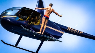 OLYMPIC MEDALIST BACKFLIPS OUT OF A HELICOPTER