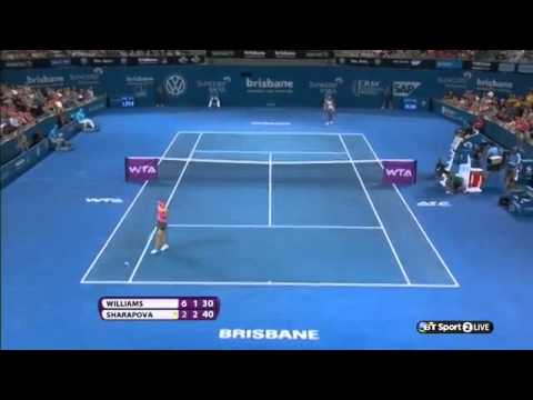 2014 Tennis Tournament Brisbane 2014-Serena Williams 1 vs Maria Sharapova 3 SF-Match H