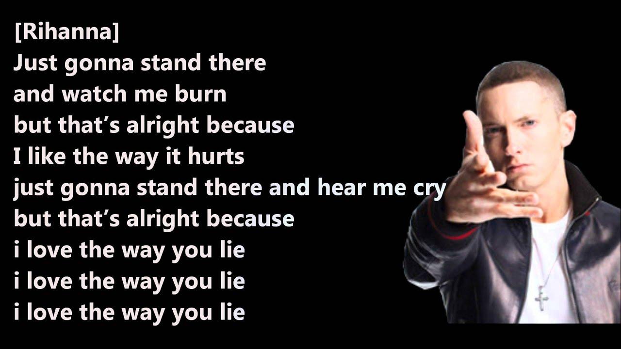 eminem love the way you lie lyrics viewing gallery