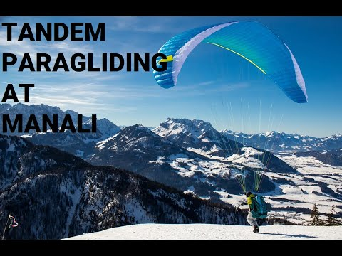 Paragliding at Manali, Himachal Pradesh, India