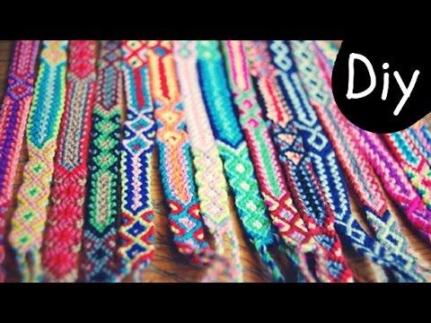 DIY #4: Como fazer Friendship Bracelets/Pulseiras da Amizade/Pulseiras Hippie - Diagonal e Chevron