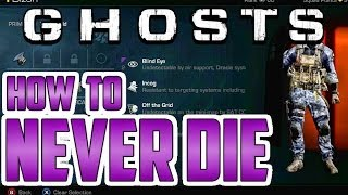 How To NEVER DIE In CoD Ghosts Multiplayer! (How To Be