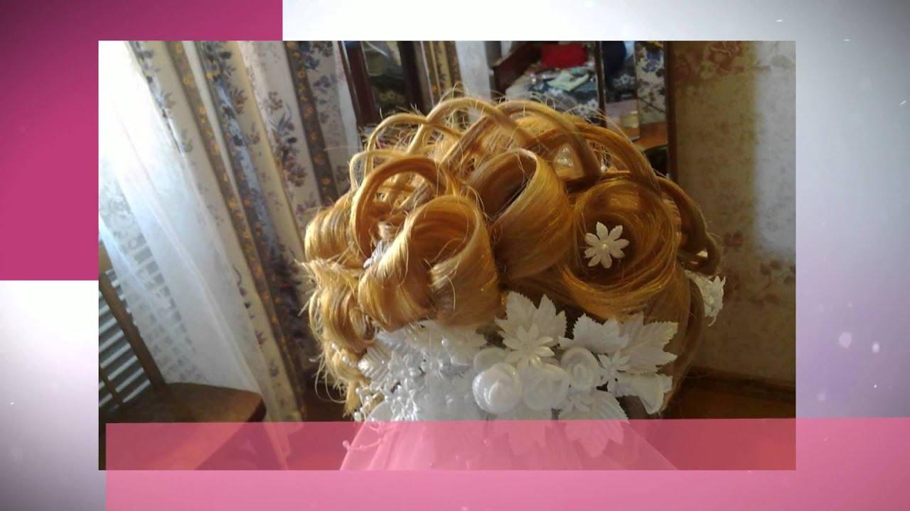 Свадебные прически с косами и с фатой фото