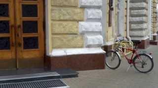 Eram singur la protestul ciclistic de la primărie