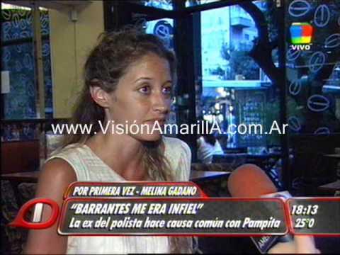 Melina Gadano ex de Martin Barrantes coincide con Pampita
