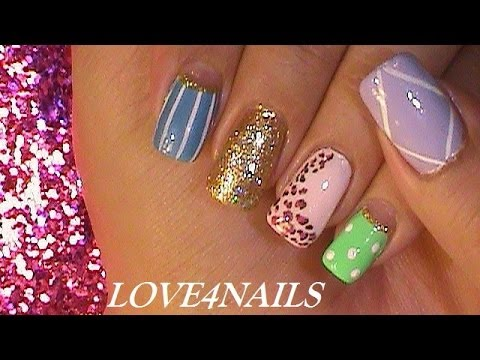 Random Nails ~ 5 Quick & Easy Nail Designs