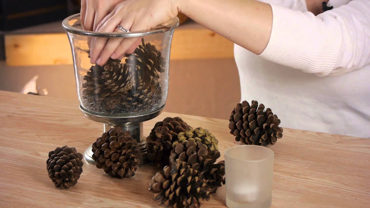 How to make a pine cone centerpiece cold weather crafts for Pinecone centerpieces