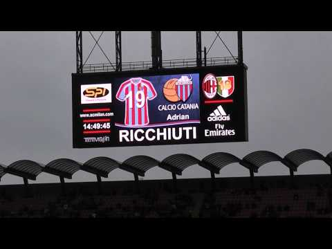 Milan Catania 4-0 Curva Sud Milano ''FORMAZIONE CATANIA'' IN HQ''.