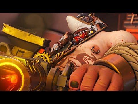 Overwatch - SHARKBAIT Raodhog Legendary Gameplay Skin Showcase