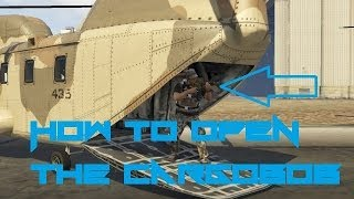 GTA V Online How To Get Inside The Cargobob (Open Back Door)