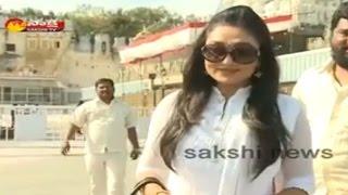 Actress Ramyasri Visits Tirumala