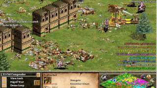 Age of Empires 2 The Conquerors Online Battle Against 5 Cpus on Hardest