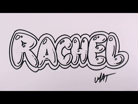 Graffiti Writing Rachel Name Design #46 in 50 Names Promotion