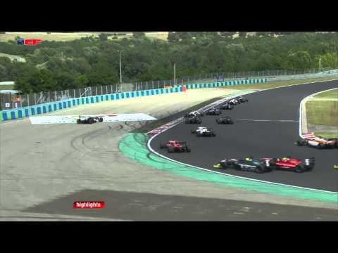 Cameron Twynham Flip @ 2014 Euro Formula Open Hungaroring Race 1