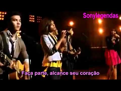 Jonas Brothers, Demi Lovato, Miley Cyrus, Selena Gomez   Send It On     ( Legendado )