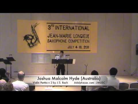 3rd JMLISC: Joshua Malcolm Hyde (Australia) Violin Partita n.2 by J.S. Bach