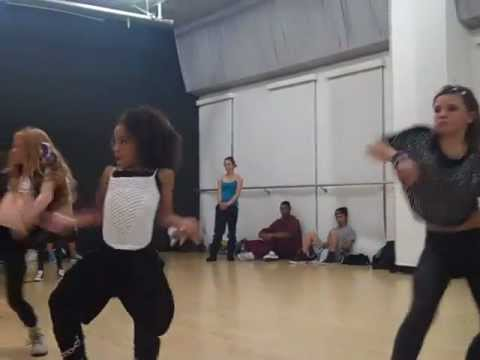 Charlize Glass, Larsen Thompson and Jade Chynoweth taking Dejan Tubic's Class
