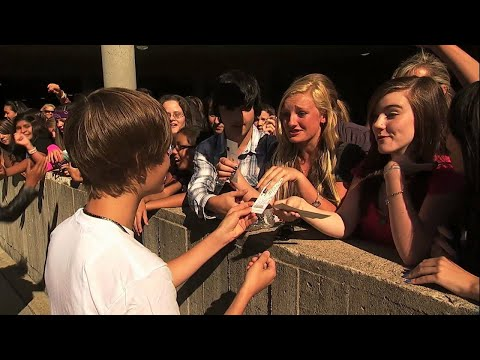 Justin Bieber NEVER SAY NEVER 3D Sneak Peek - Tickets, NEVER SAY NEVER 3D hits Theatres Feb 11th - this is another sneak peek. The goal of the movie is to tell the story of a kid from a small town who didnt even ...