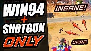 WIN94 + SHOTGUN ONLY - INSANE DUO vs SQUAD! - PUBG Mobile