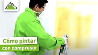 Como pintar paredes con compresor