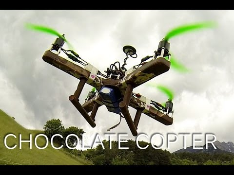 FIRST CHOCOLATE QUADCOPTER - delicious!!!