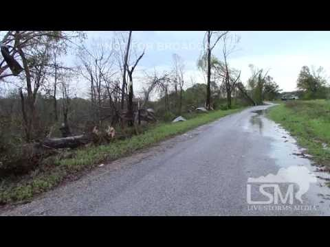 4-7-14 Covington County, Mississippi Tornado Damage *Brandon Clement HD*