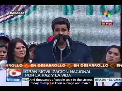 President Maduro calls people to fight violence in Venezuela