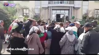 بالفيديو..ساكنة كاريان سنطرال تحتج من جديد أمام مقاطعة عين السبع بالبيضاء | بــووز