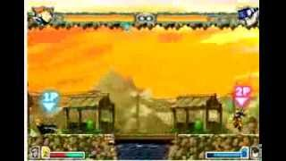 Bleach Vs Naruto 1.7 Gameplay (Bankai Ichigo/Hollow Masked