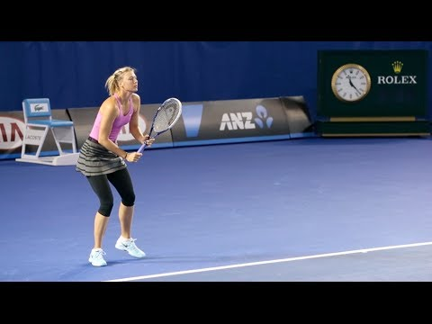 Maria Sharapova First Practice - Australian Open 2014