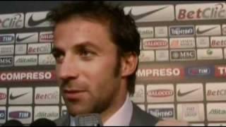 17/10/2010 - Campionato - Juventus-Lecce 4-0, intervista a Del Piero