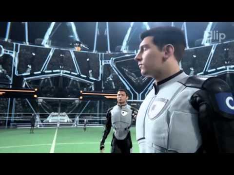 C.Ronaldo sát cánh Messi trong trận bóng với người ngoài hành tinh