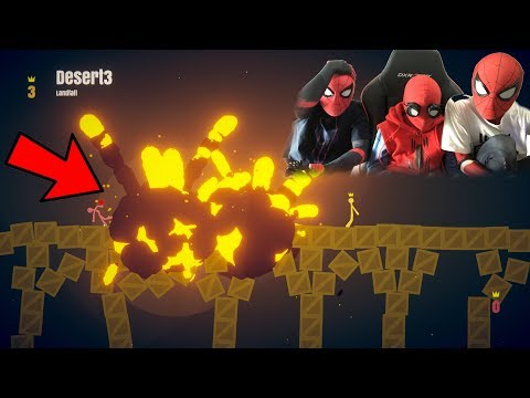 STICK FIGHT THE GAME Spiderman Bros (FUNNY Gameplay!!)