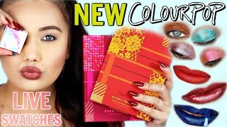 HUGE NEW Colourpop LIVE SWATCHES | Jelly Much Shadow Lip Kits Super Shock Shadow