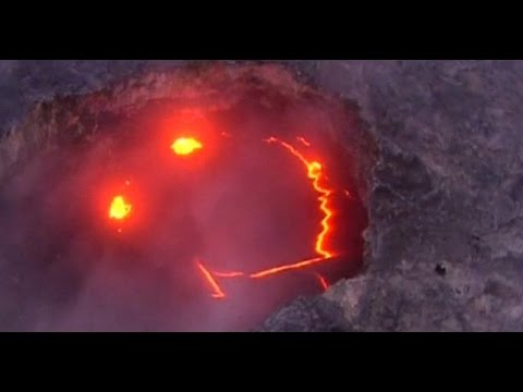 Smiling Volcano in Hawaii goes viral
