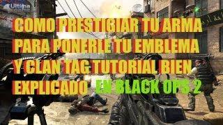 Como Prestigiar Tu Arma En Call Of Duty Black Ops 2(como