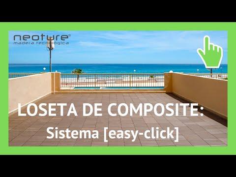 Instalacion loseta madera composite para exterior youtube - Loseta para jardin ...