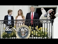 The first family welcomed children to the White House for the annual Easter Egg Roll