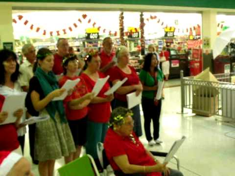 Port Kennedy Baptist singing Christmas Carols at Warnbro Shopping Centre - 17-12-2011 - Part 2