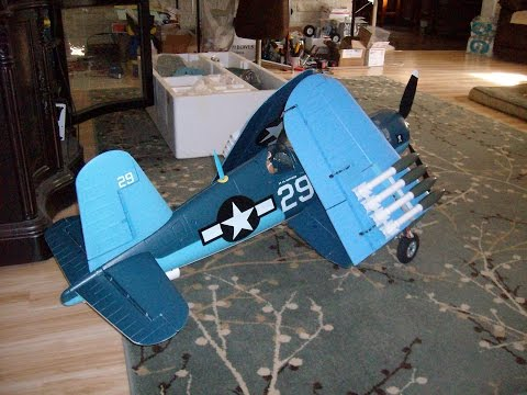 Super F4U Corsair Banana Hobby Folding Wing Corsair Flight